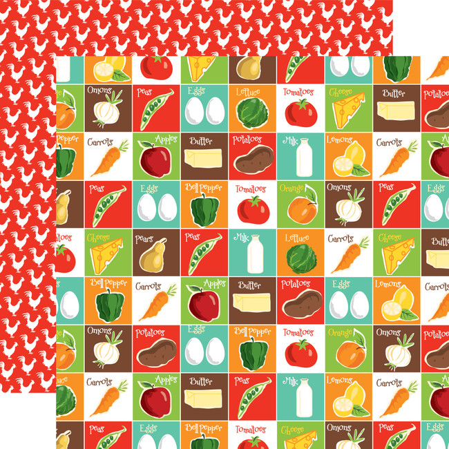 Farm To Table: Pantry Party 12x12 Patterned Paper