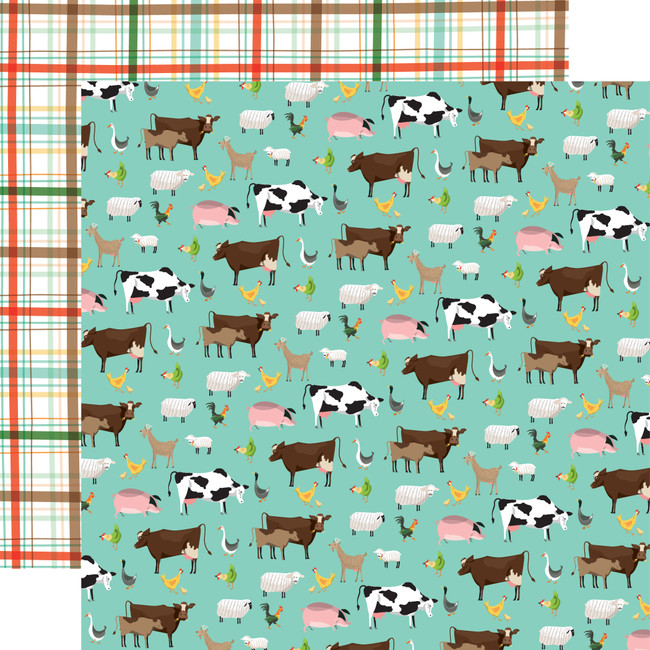 Farm To Table: Barnyard 12x12 Patterned Paper