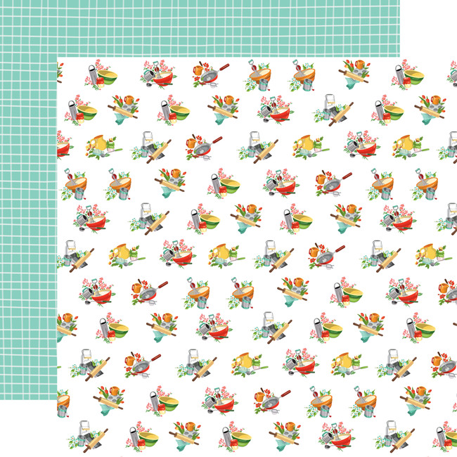 Farm To Table: Floured Flowers 12x12 Patterned Paper