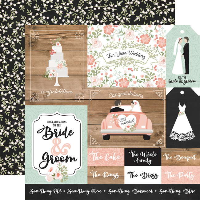 Our Wedding: Multi Journaling Cards 12x12 Patterned Paper