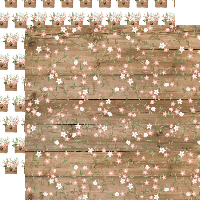 Our Wedding: Forever Floral 12x12 Patterned Paper