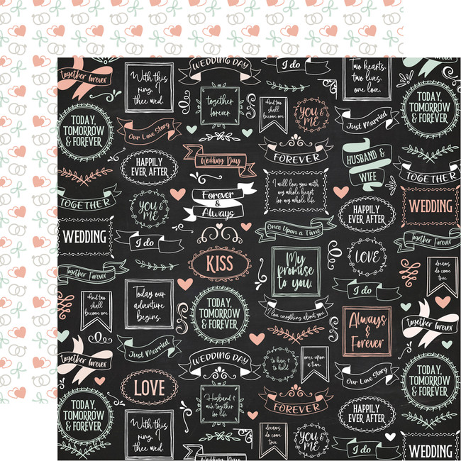 Our Wedding: Always & Forever 12x12 Patterned Paper