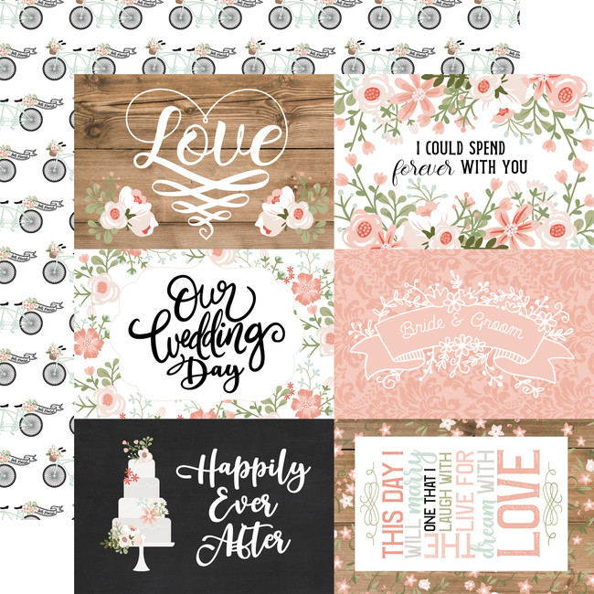 Our Wedding: 6x4 Journaling Cards 12x12 Patterned Paper