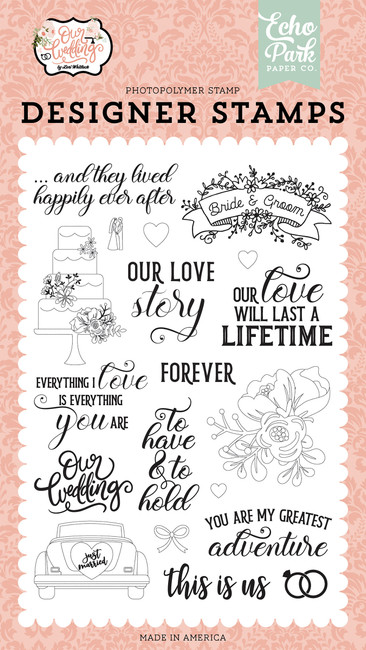 Our Wedding: Our Love Story Stamp Set