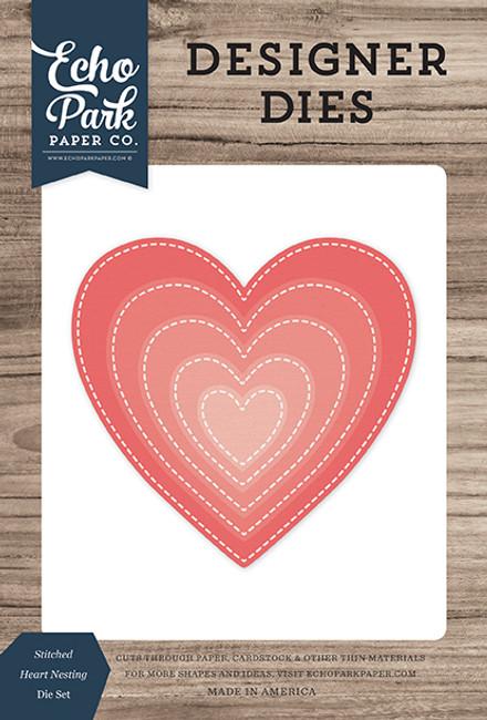Stitched Heart Nesting Die Set