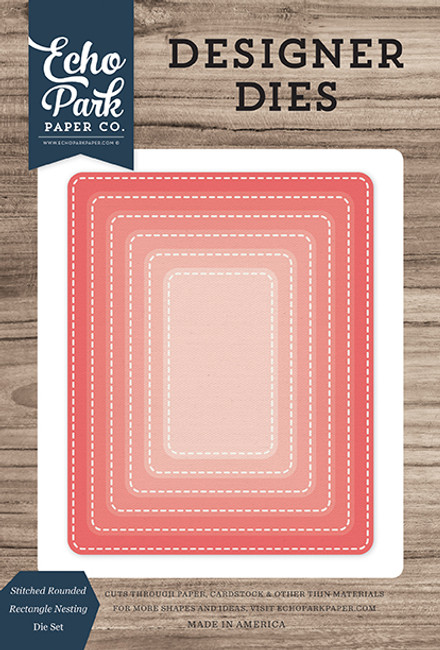 Stitched Rounded Rectangle Nesting Die Set