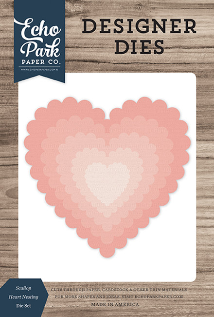Scallop Heart Nesting Die Set