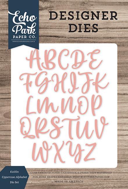 Kaitlin Uppercase Alphabet Die Set
