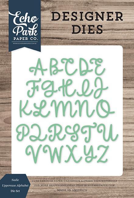 Sadie Uppercase Alphabet Die Set