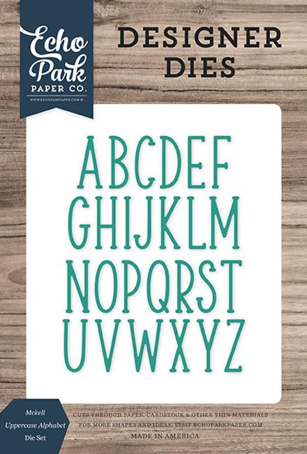 Mckell Uppercase Alphabet Die Set