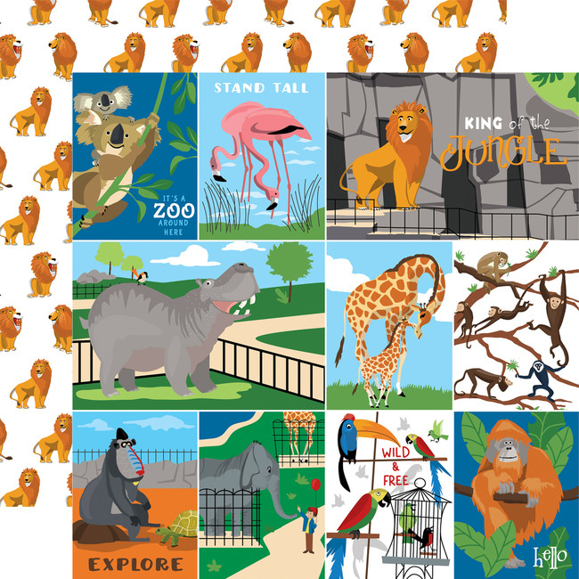 Zoo Adventure: Multi Journaling Cards
