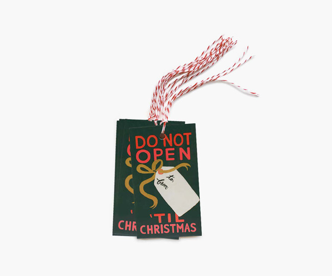Rifle Paper Co.: Do Not Open Til' Christmas Gift Tags