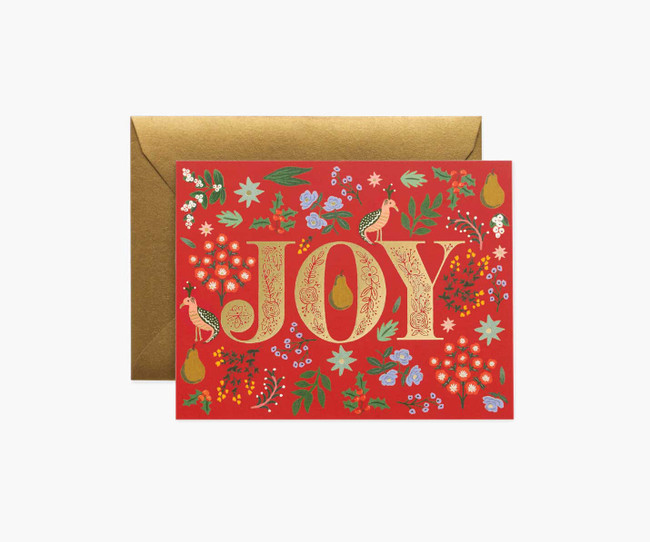 Rifle Paper Co: Partridge Christmas Card