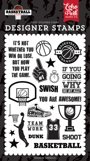 Basketball: Swish Stamp Set