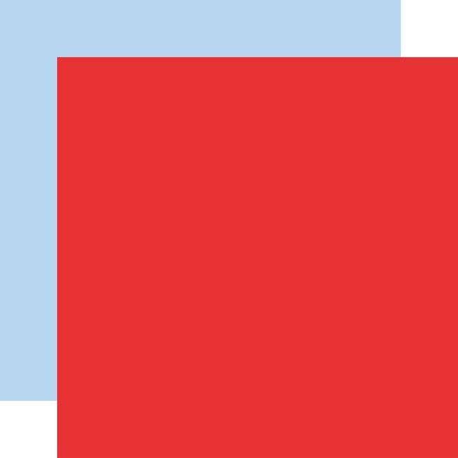 Let's Celebrate: Designer Solids - Red/Light Blue