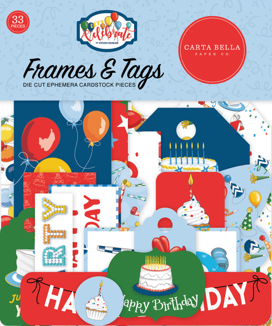 Let's Celebrate: Let's Celebrate Frames & Tags