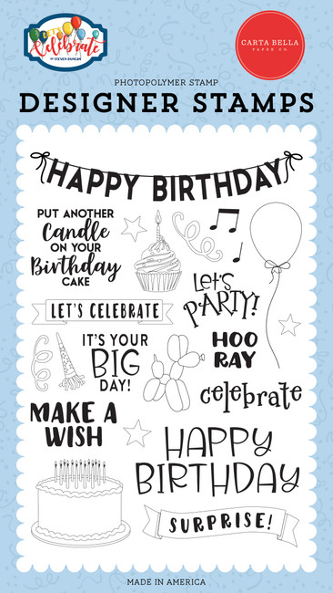 Let's Celebrate: Birthday Surprise Stamp Set