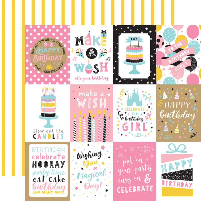 Magical Birthday Girl: 3x4 Journaling Cards