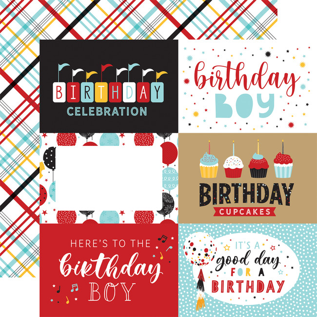 Magical Birthday Boy: 6x4 Journaling Cards