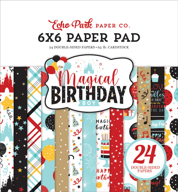 Magical Birthday Boy 6x6 Paper Pad