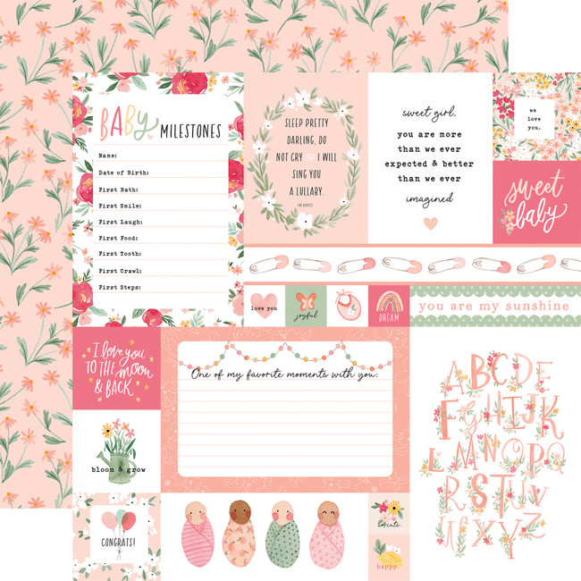Welcome Baby Girl: Multi Journaling Cards