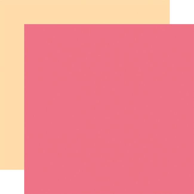 Welcome Baby Girl: Designer Solids - Dark Pink/Yellow