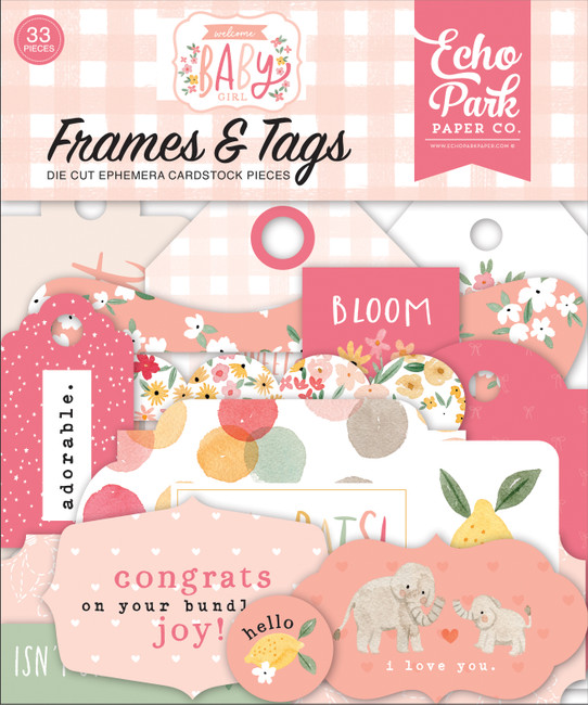 Welcome Baby Girl: Welcome Baby Girl Frames & Tags