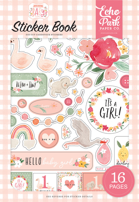 Welcome Baby Girl: Welcome Baby Girl Sticker Book