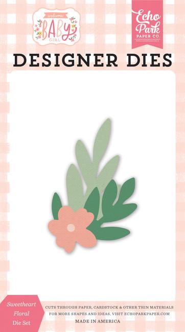 Welcome Baby Girl: Sweetheart Floral Die Set