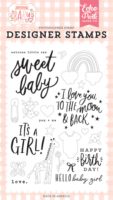 Welcome Baby Girl: Welcome Little One Stamp Set