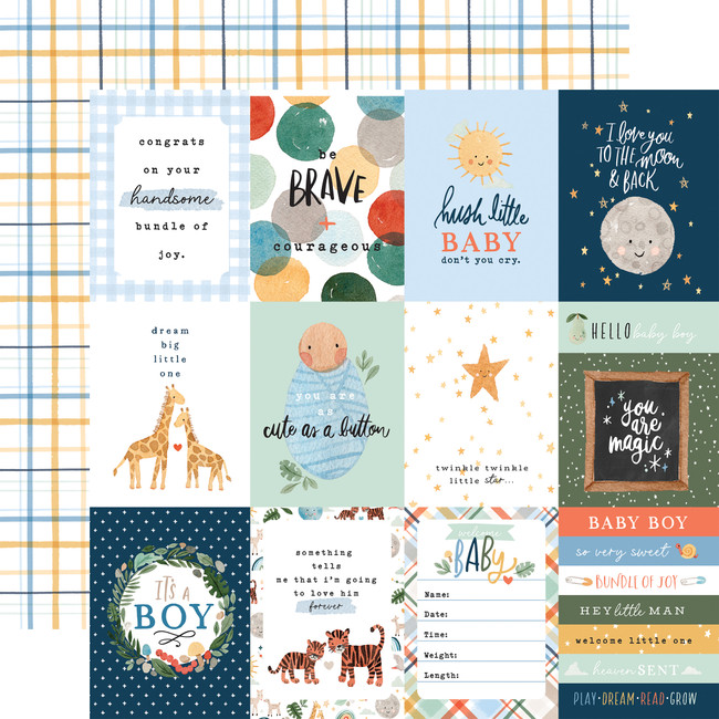 Welcome Baby Boy: 3x4 Journaling Cards