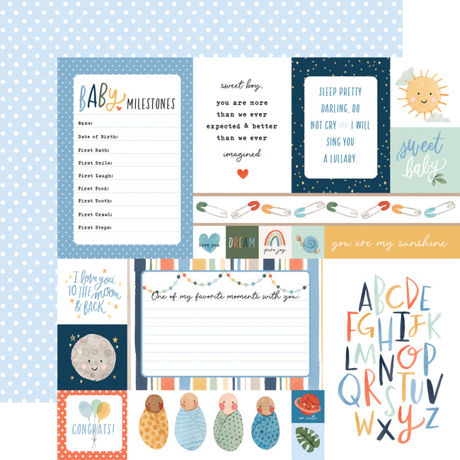 Welcome Baby Boy: Multi Journaling Cards