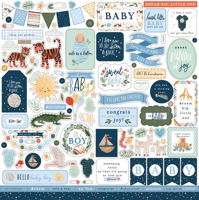 Welcome Baby Boy: Element Sticker