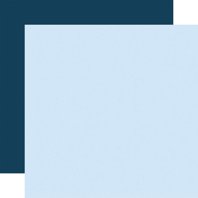 Welcome Baby Boy: Designer Solids - Light Blue/Navy