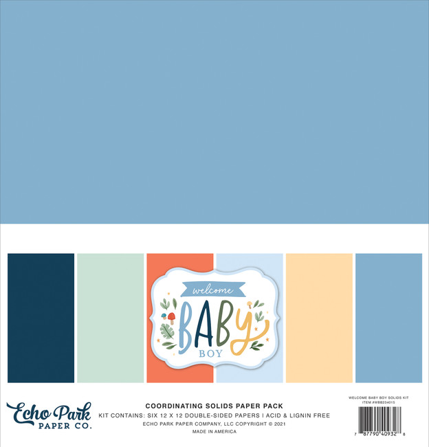 Welcome Baby Boy: Solids Kit