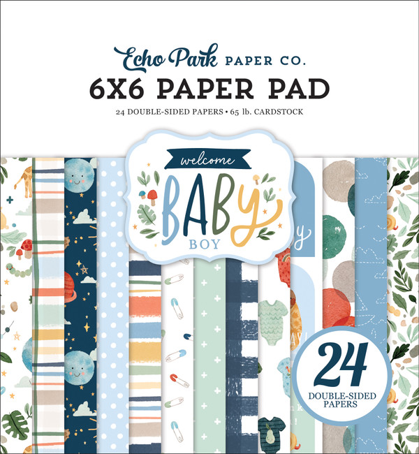 Welcome Baby Boy: 6x6 Paper Pad