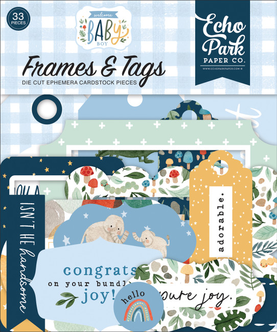Welcome Baby Boy: Frames & Tags