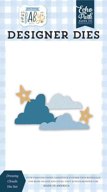 Welcome Baby Boy: Dreamy Clouds Die Set
