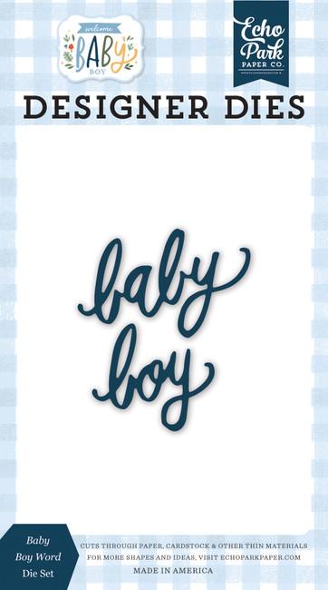 Welcome Baby Boy: Baby Boy Word Die Set