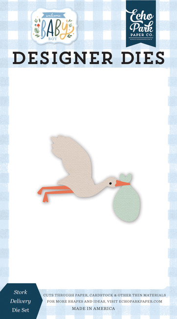 Welcome Baby Boy: Stork Delivery Die Set