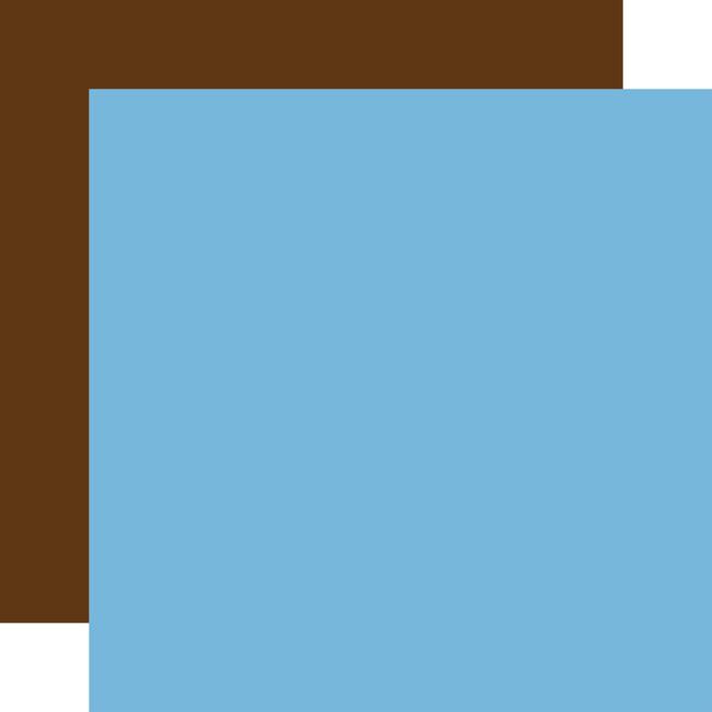 Our Travel Adventure: Designer Solids - Light Blue/Brown