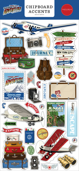 Our Travel Adventure: 6x13 Chipboard Accents