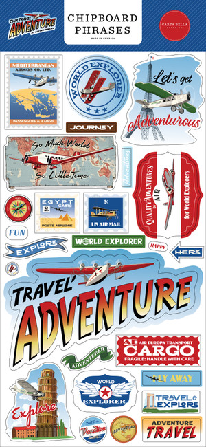 Our Travel Adventure: 6x13 Chipboard Phrases