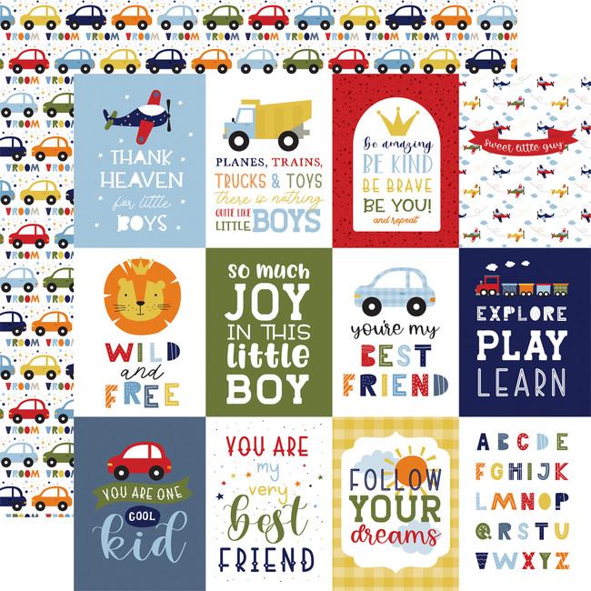 Little Dreamer Boy: 3x4 Journaling Cards