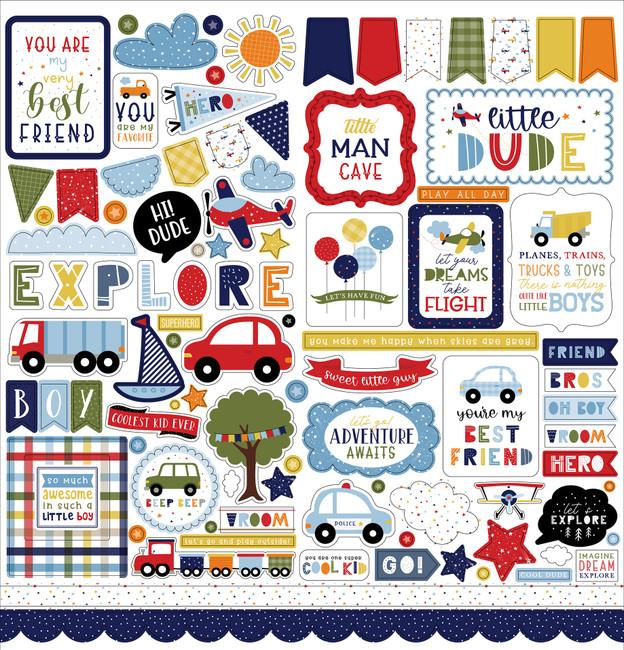 Little Dreamer Boy: Element Sticker