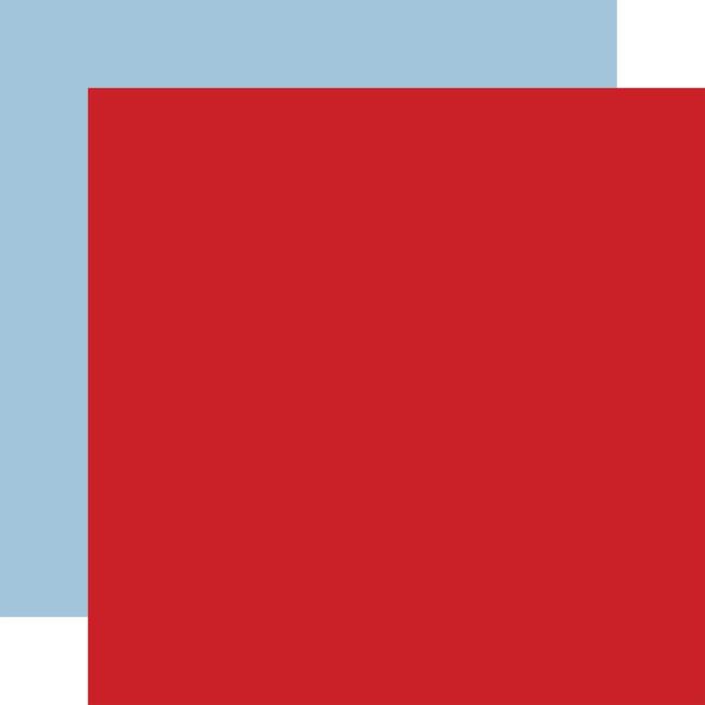 Little Dreamer Boy: Designer Solids - Red/Light Blue