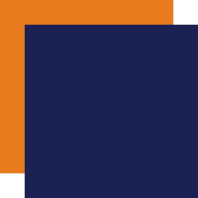 Little Dreamer Boy: Designer Solids - Navy/Orange
