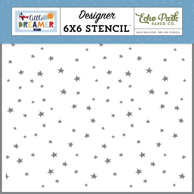 Little Dreamer Boy: Explore Stars 6x6 Stencil