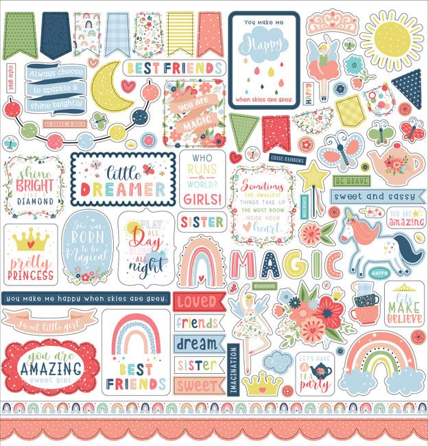 Little Dreamer Girl: Element Sticker