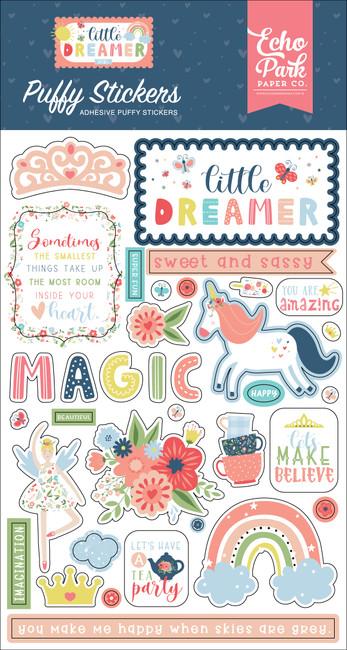 Little Dreamer Girl: Puffy Stickers